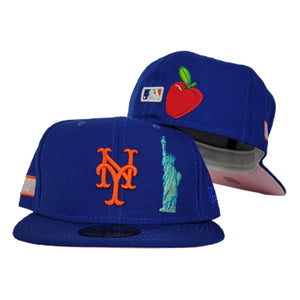 NEW YORK METS ROYAL BLUE PINK BOTTOM STATUE OF LIBERTY NEW ERA 59FIFTY FITTED HAT