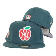 Load image into Gallery viewer, NEW YORK YANKEES DARK GREEN GRAY BOTTOM 100TH ANNIVERSARY BIG APPLE NEW ERA 59FIFTY FITTED