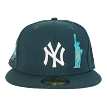 Load image into Gallery viewer, NEW YORK YANKEES DARK GREEN PINK BOTTOM SUBWAY SERIES STATUE OF LIBERTY NEW ERA 59FIFTY FITTED HAT