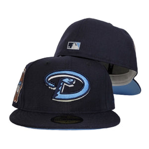Navy Blue Arizona Diamondbacks Icy Blue Bottom 1998 Inaugural Season New Era 59Fifty Fitted