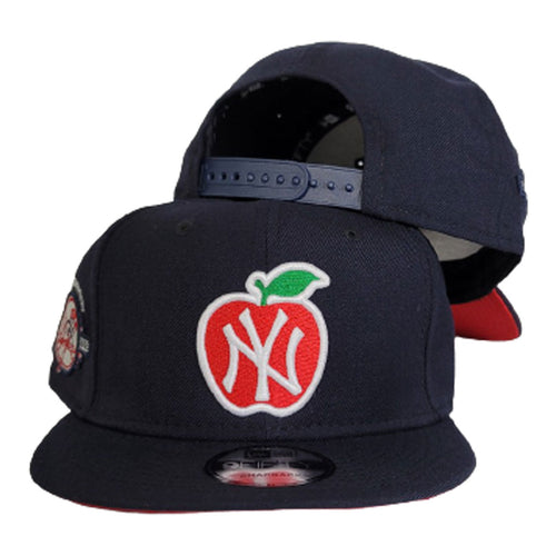 Navy Blue New York Yankees 100th Anniversary Big Apple Red Bottom New Era 9Fifty Snapback