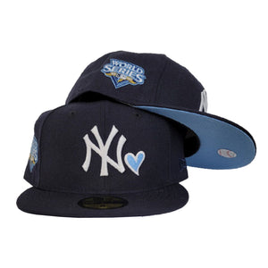 Navy Blue New York Yankees Icy Blue Bottom 2009 World Series New Era 59Fifty Fitted
