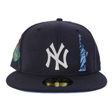 Load image into Gallery viewer, Navy Blue New York Yankees Icy Blue Bottom Statue of Liberty New Era 59Fifty Fitted