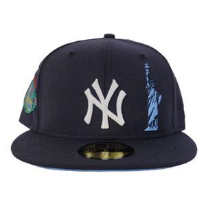 Navy Blue New York Yankees Icy Blue Bottom Statue of Liberty New Era 59Fifty Fitted