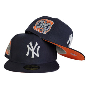 Navy Blue New York Yankees Orange Bottom 2000 Subway Series Side Patch New Era 59Fifty Fitted
