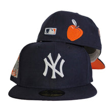 Load image into Gallery viewer, Navy Blue New York Yankees Orange Bottom 2000 Subway Series Side Patch New Era 59Fifty Fitted