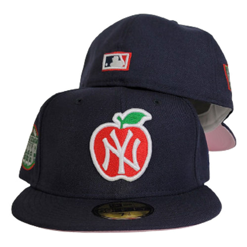 Navy Blue New York Yankees Pink Bottom Yankees Stadium Big Apple New Era 59Fifty Fitted