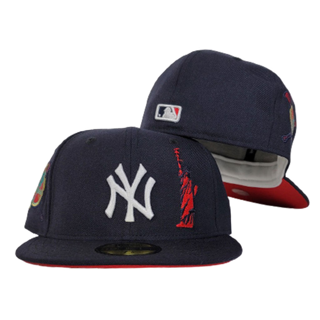Navy Blue New York Yankees Red Bottom Statue of Liberty New Era 59Fifty Fitted