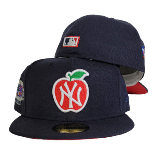 Navy Blue New York Yankees Red Bottom Subway Series Big Apple New Era 59Fifty Fitted