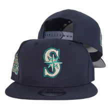 Load image into Gallery viewer, Navy Blue Seattle Mariners 20th Anniversary New Era 9Fifty Snapback