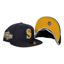 Load image into Gallery viewer, Navy Blue Seattle Mariners yellow Bottom 2001 All Star Game New Era 59Fifty Fitted