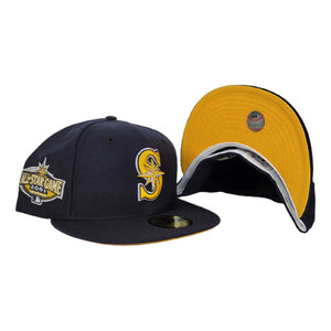 Navy Blue Seattle Mariners yellow Bottom 2001 All Star Game New Era 59Fifty Fitted
