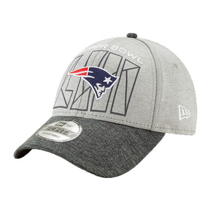 New England Patriots New Era Heather Gray/Heather Charcoal Super Bowl LIII Bound Two-Tone 9FORTY Adjustable Hat