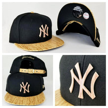 Load image into Gallery viewer, New Era 9Fifty New York Yankee Black Metal Badge Strapback Hat