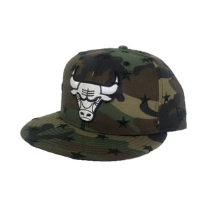 New Era Army Camouflage Star Scatter Chicago Bulls 9Fifty Snapback hat
