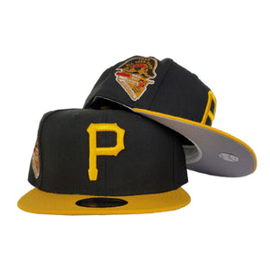 New Era Black Yellow Grey Bottom Pittsburgh Pirates 1959 All Star Game Fitted Hat