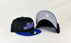 New Era Black / Blue Visor New York Mets Fitted hat