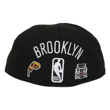 Load image into Gallery viewer, New Era Black Brooklyn Nets Souvenir 59FIFTY Fitted