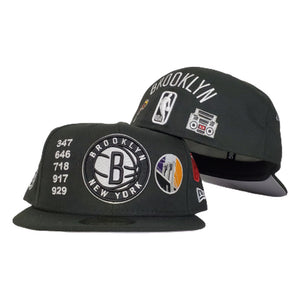 New Era Black Brooklyn Nets Souvenir 59FIFTY Fitted