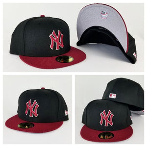 New Era Black / Burgundy Visor New York Yankees Fitted hat