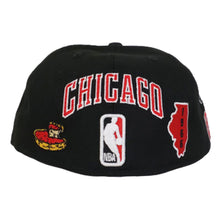 Load image into Gallery viewer, New Era Black Chicago Bulls Souvenir 59FIFTY Fitted