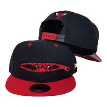 Load image into Gallery viewer, New Era Black Chicago Bulls Zipper 9Fifty Snapback Hat