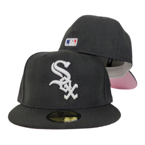 New Era Black Chicago White Sox Pink Undervisor 59FIFTY Fitted