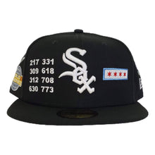 Load image into Gallery viewer, New Era Black Chicago White Sox Souvenir 59FIFTY Fitted