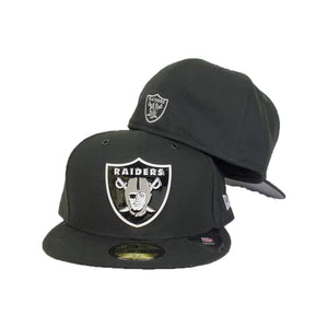 New Era Black Front Painted Metal Badge Oakland Raiders 59Fifty Fitted hat