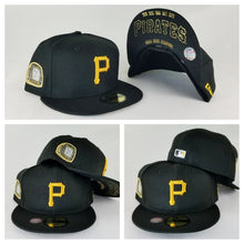 Load image into Gallery viewer, New Era Black Pittsburgh Pirates 5 times Champions Ring 59Fifty Fitted Hat