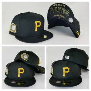 New Era Black Pittsburgh Pirates 5 times Champions Ring 59Fifty Fitted Hat