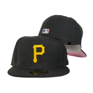 New Era Black Pittsburgh Pirates Pink Undervisor 59FIFTY Fitted