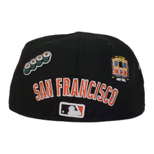 Load image into Gallery viewer, New Era Black San Francisco Giants Souvenir 59FIFTY Fitted