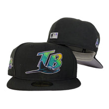 Load image into Gallery viewer, New Era Black Tampa Bay Rays 1998 Inaugural Season Side Patch Fitted hat