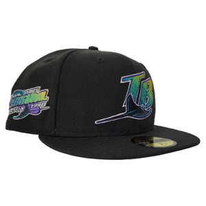 New Era Black Tampa Bay Rays 1998 Inaugural Season Side Patch Fitted hat