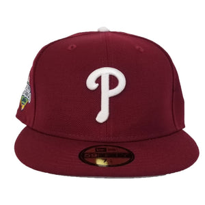 New Era Burgundy Philadelphia Phillies 2008 World Series Side Patch Fitted Hat
