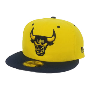 New Era Chicago Bulls Yellow Navy 59Fifty Fitted Hat
