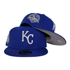 New Era Kansas City Royals Royal Blue 40th Anniversary Side Patch Fitted hat
