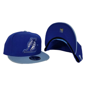 New Era Light Blue Los Angeles Lakers 9Fifty Snapback