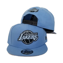 Load image into Gallery viewer, New Era Los Angeles Lakers University Blue 9FIFTY Snapback Hat