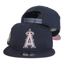Load image into Gallery viewer, New Era Navy Blue Los Angeles Angels 50th Anniversary Pink Bottom 9Fifty Snapback