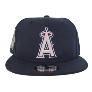 New Era Navy Blue Los Angeles Angels 50th Anniversary Pink Bottom 9Fifty Snapback