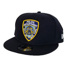 "Load image into Gallery viewer, New Era Navy Blue New York City Police Department "" NYPD "" Logo Snapback hat"
