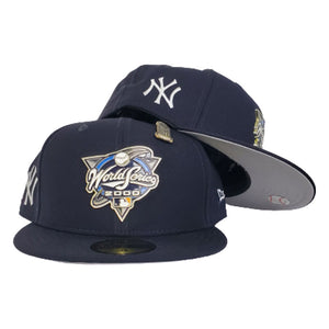 New Era Navy Blue New York Yankees 2000 World Series Metal Badge 59Fifty Fitted