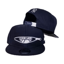Load image into Gallery viewer, New Era Navy Blue New York Yankees 27X World Series Champions Zipper 9Fifty Snapback