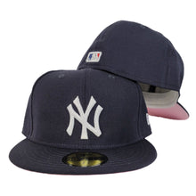 Load image into Gallery viewer, New Era Navy Blue New York Yankees Pink Undervisor 59FIFTY Fitted