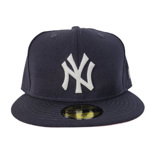 New Era Navy Blue New York Yankees Pink Undervisor 59FIFTY Fitted