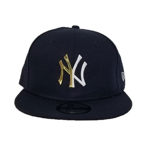 New Era Navy Split Metal New York Yankees Snapback