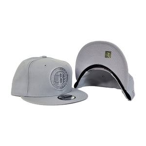 New Era Brooklyn Nets Light GreyTonal 9FIFTY Snapback Hat