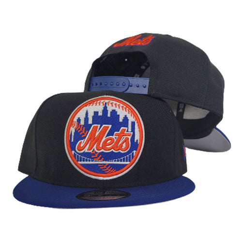 New Era New York Mets Black / Royal 9Fifty Snapback Hat